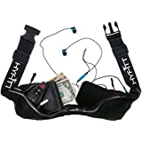Running Belt Waist Pack Fanny Pack - Sleek Symmetrical Design, 2 Large Expandable Pockets, Reflective Material & 100% Water Resistant. Best For All IPhone, Samsung And Android Smartphones