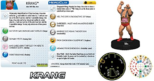 Heroclix Teenage Mutant Ninja turtles TMNT #031 Krang Super Rare Minature Figure w/ Ability Card