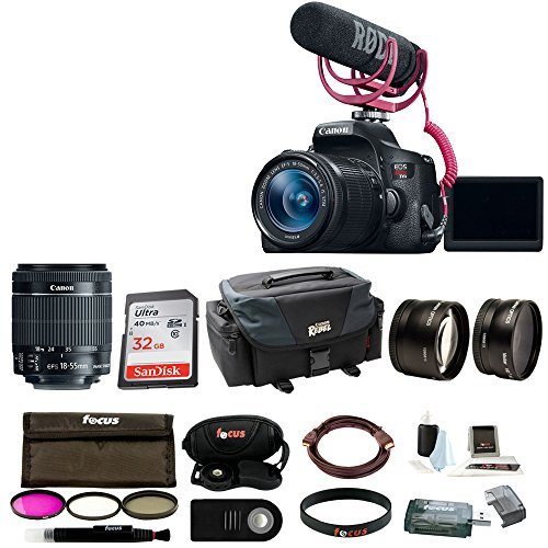 Canon EOS Rebel T6i DSLR Camera with 18-55mm Lens Video Creator Kit and Accessor