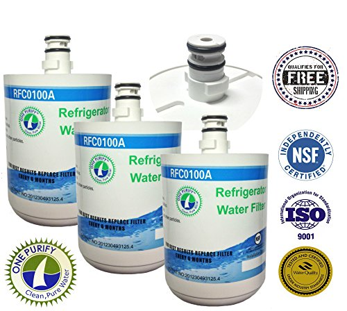 3 Pack - Onepurify Water Filter To Replace Lg, Kenmore, Sears, Lt500P, 5231Ja2002, 5231La2002A, 5231Ja2002A-S, 5231Ja2002B, 5231Ja2002B-S, 9890, Adq72910901, Adq72910902, Gen11042F-08, Gen11042Fr-08, Ps2487038, Sgf-La22, Eef-6005A, Wf-290, Wf290, Wsl-1. front-445069
