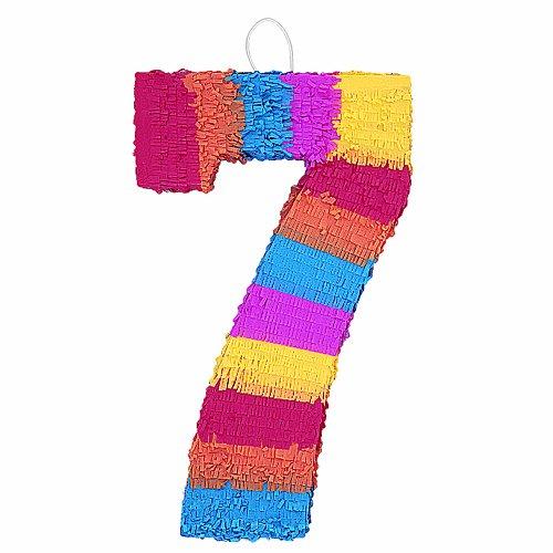 """Number 7 Pinata, 22"""" X 14"""""""