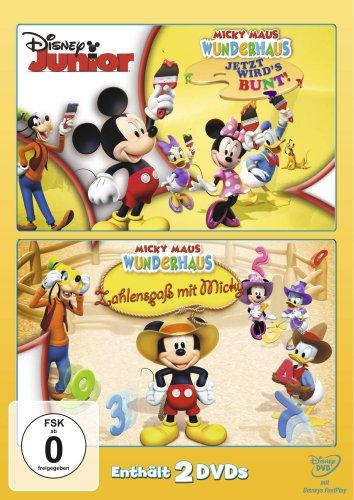 Micky Maus Wunderhaus - Jetzt wird's bunt! / Zahlenspaß mit Micky [2 DVDs]