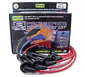 Taylor Cable 77208 Red Universal Fit 8mm Spiro-Pro Ignition Wire Set