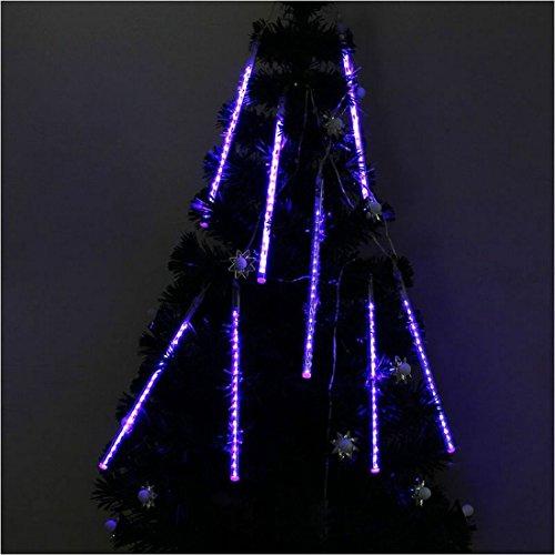Yaruie 30Cm 144 Leds Snowfall Meteor Rain Light Tube For Holiday Party Christmas Xmas Decoration With Us Plug Blue