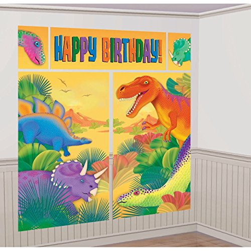 Dinosaurs ( Prehistoric Party ) Scene Setter Wall Decorations Kit - Kids Birthday and Party Supplies Decoration