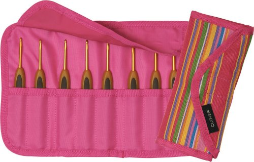 Clover Takumi Getaway Soft Touch Crochet Hooks Gift Set, 8 Sizes