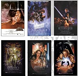 Star Wars Deluxe Set of 6 Movie Posters From ALL the Star Wars Movies
