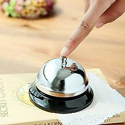 EMDMAK Big Call Bell. The Porter, Kitchen, Restaurant, Bar and Classic Concierge Service Hotel Use (3.9 Inch Diameter)