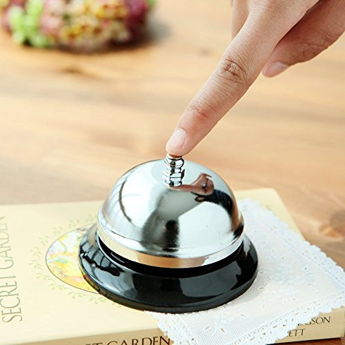 EMDMAK Big Call Bell. The Porter, Kitchen, Restaurant, Bar and Classic Concierge Service Hotel Use (3.9 Inch Diameter) (Kitchen Service Table compare prices)
