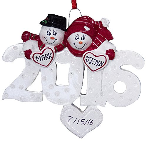 Personalized Couple Ornament 2016-Free Personalization