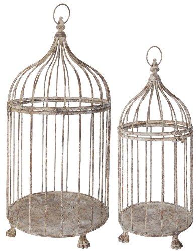 Antik-Eisen 2er Set Vogelkäfig, Dekoration für