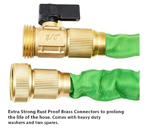 100FT-Expandable-Hose-Set-with-8-Nozzle-Spray-Hanger-Bundled-in-cloth-bag-Extra-Strength-Inner-Tube-5000D-Strongest-Fabric-TRIPLE-Latex-Core-Shut-off-Valve-Solid-Brass-Ends-Warranty-Inc
