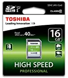 Toshiba SD-T016UHS1(6 16GB High Speed Professional 40MB/s Class 10 SDHC UHS-1 Card