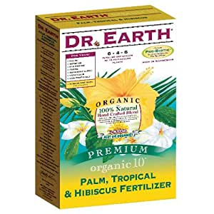 Dr earth organic palm tropical hibiscus fertilizer 4 lb hibiscus food - Organic flower fertilizer homemade solutions ...