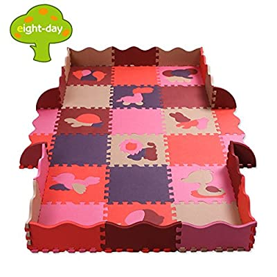 Eightday Kid's Baby Exercise Puzzle Solid Play Mat Playmat Safety Play Floor