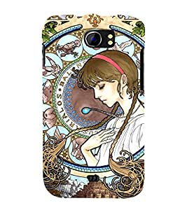 printtech Castle in the Sky Princess Back Case Cover for Micromax Canvas 2 A110 / Micromax Canvas 2 Plus A110Q