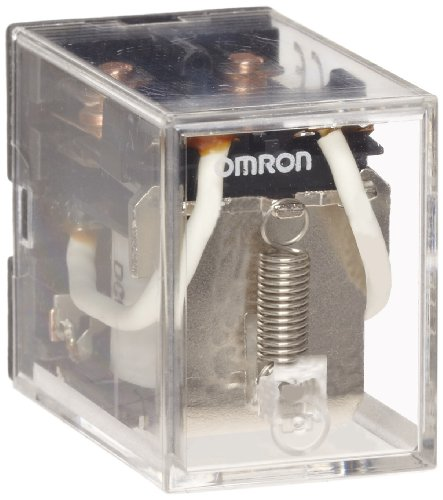Omron LY2-AC110/120 General Purpose Relay, Standard Type, Plug-In/Solder Terminal, Standard Bracket Mounting, Single Contact, Double Pole Double Thr