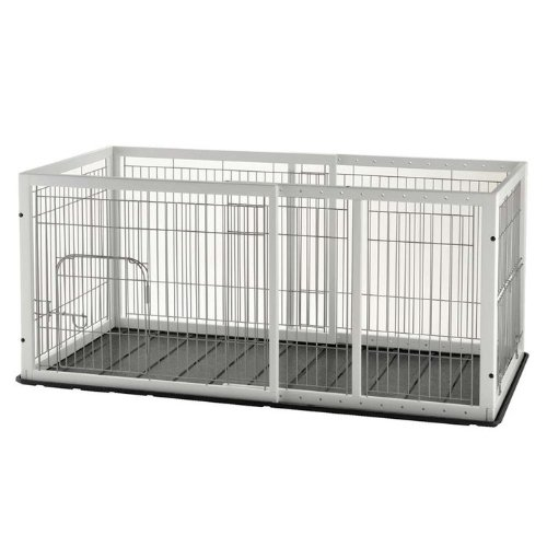 Richell Expandable Pet Pen Medium with Floor Tray, Origami White