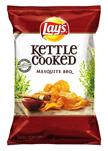 Lay'S Kettle Cooked Mesquite Potato Chips, Bbq, 8.5 Ounce