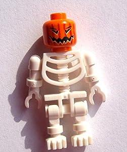 Lego 10 white Skeletons Minifigures with Pumpkin head Halloween