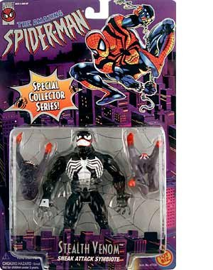 THE AMAZING SPIDER-MAN SPECIAL COLLECTORS SERIES:STEALTH VENOM (BLACK VERSION) FIGURE