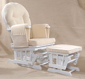 Serenity (white) Nursing Glider maternity chair white from Kidzmotion
