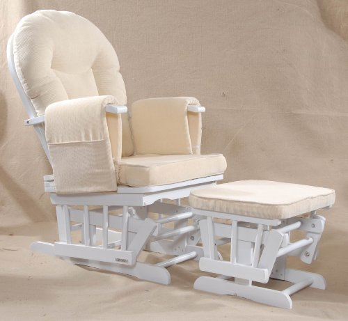 Serenity (white) Nursing Glider maternity chair white