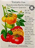 Red and Yellow Brandywine Tomato Certified Organic Heirloom Seeds