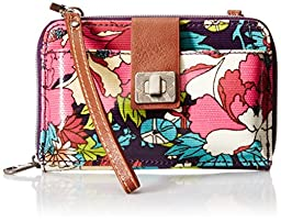 Sakroots Artist Circle Smartphone Convertible Cross Body Bag, Violet Flower Power, One Size