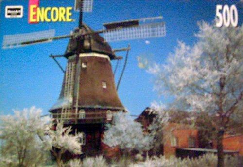 "Encore - Breman, Germany - Windmill - 500 Pieces Jigsaw Puzzle - 10.75"" x 18"" - 1"