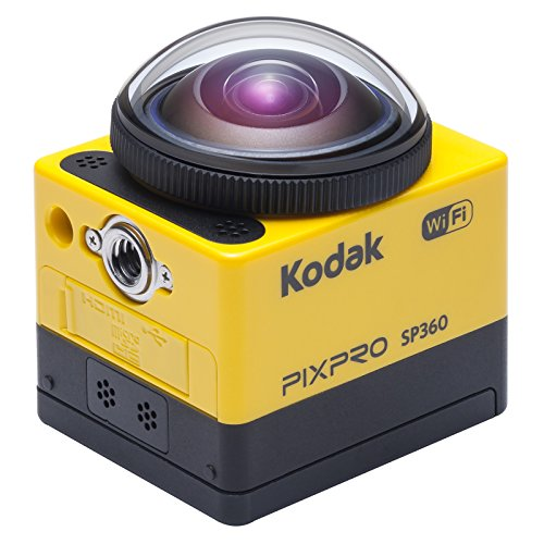 Kodak SP360 4K 360 Degree Recording Action Camera Kit - Yellow