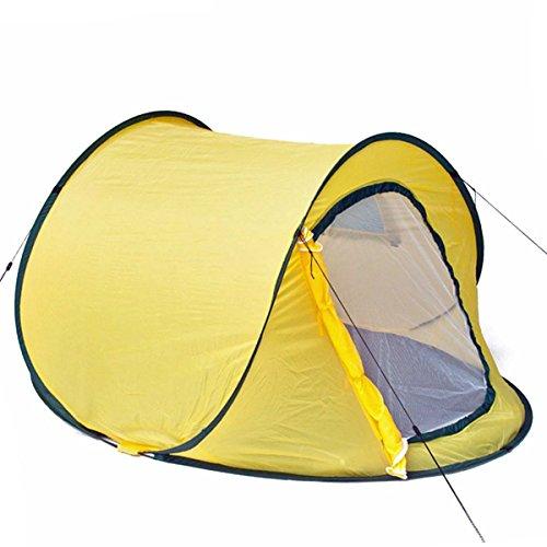 Pop-Up Wurfzelt Automatik-Zelt Quick-tent Sekundenzelt zum Werfen - Gelb