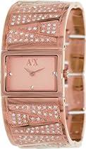 Armani Exchange Rose Gold-Tone Stainless Steel Bangle Ladies Watch AX4114