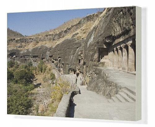 Canvas Print Of Ajanta Cave Complex