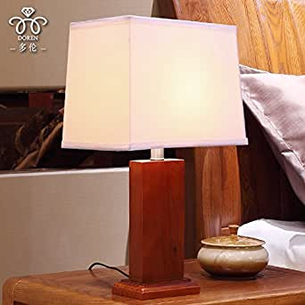 Ceng Wood Chinese Table Lamp Bedroom Bedside Lamp Modern Minimalist Living Room Lights