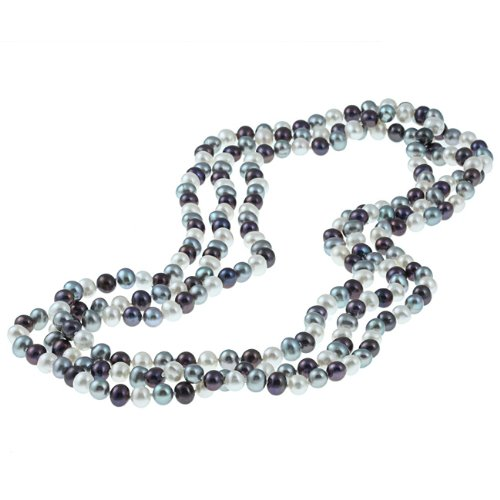 Dark Multi-colored Freshwater Pearl 64-inch Strand (6.5-7 mm)
