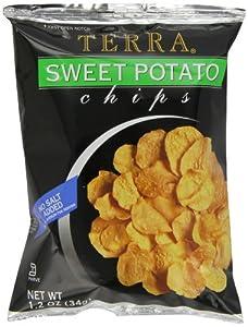 Terra Plain Sweet Potato Chips, 1.2 Ounce Bags (Pack of 24)