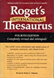 Roget's International Thesaurus (Harper Colophon Books) (0690000111) by Peter Mark Roget