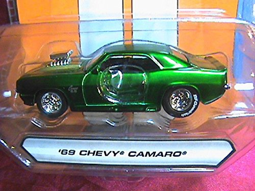 Jada Big Time Muscle 1969 Chevy Camaro SS 1:64 Scale Green Die Cast Car