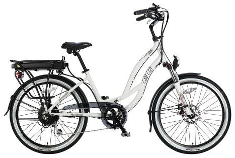 EG Maui 350 EX Beach Cruiser Step-thru Electrc Bike - White
