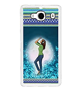 ifasho Girl dancing in beats with head phone Back Case Cover for Redmi 2S