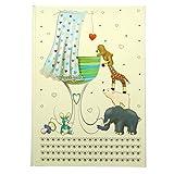 """A4 """"de regalo para recién nacido"""" cuaderno de libro de módulo de ampliación de memoria blanco y azul - 60 - del tamaño de la hojas de papel de=120 páginas - 297 mm x 210 mm"""