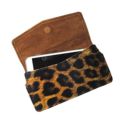 i-KitPit : PU Leather Pouch Case With Magnetic Closure For HTC Desire 600 C Dual Sim (BLACK & BROWN SHADE)