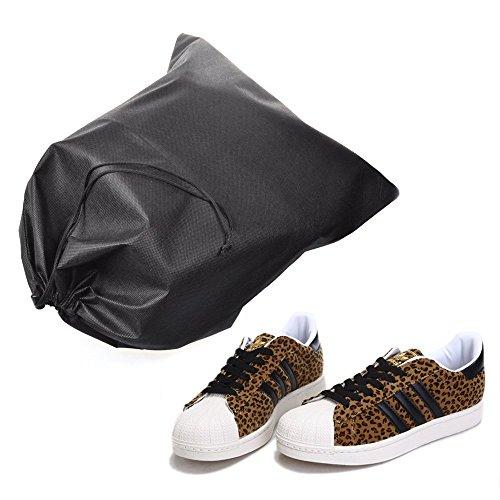 Kloud City 1pcs Black Non Woven Shoe Bag Clothes Case