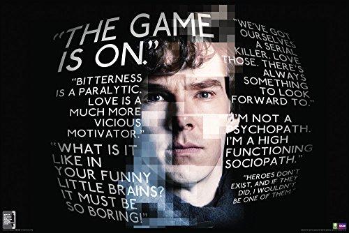Sherlock Quotes (Sherlock Holmes) British Crime Drama TV Television Show Poster Print 24x36
