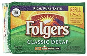 Folgers Classic Decaf Coffee Brick, 11.3 Ounce (Pack of 12)