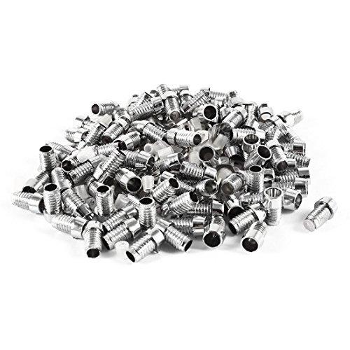 Dimart 100 Pieces Silver Tone Plastic 3Mm Led Panel Mount Bezel Holder
