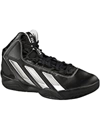 Adidas Men's AS SMU AdiPower Howard Basketball Black1/Running White/MetSilver D(M) US