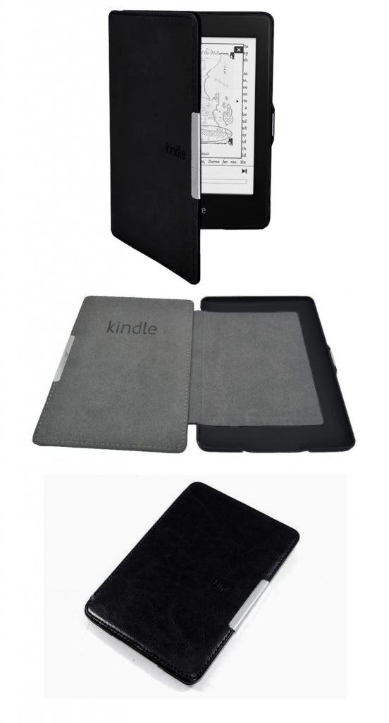 FUNOC Ultra Slim Magnetic PU Leather Smart Case Cover for Amazon Kindle Paperwhite 5