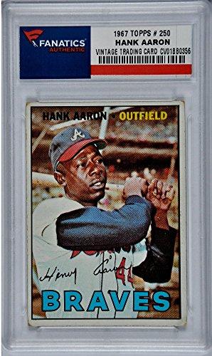 Hank Aaron Atlanta Braves 1967 Topps #250 Card
